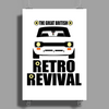 The Great British Retro Revival Men's Escort Poster Print (Portrait)