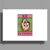 The Hanged Man Tarot Card – number 12, Le Pendu. Poster Print (Landscape)