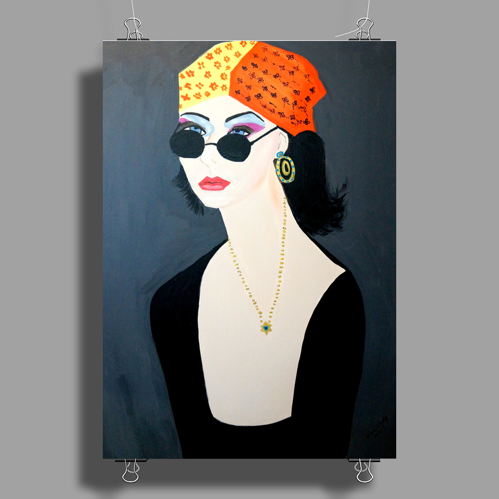 THE HIPPY GIRL  ROCKY Poster Print (Portrait)