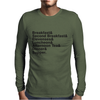 The Hobbit Meals Mens Long Sleeve T-Shirt