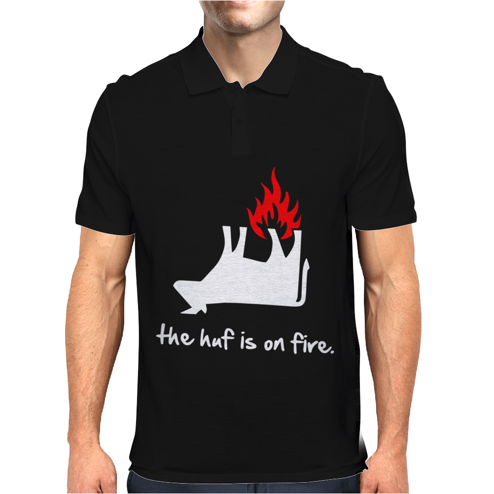 The Huf Is On Fire Mens Polo