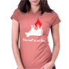 The Huf Is On Fire Womens Fitted T-Shirt