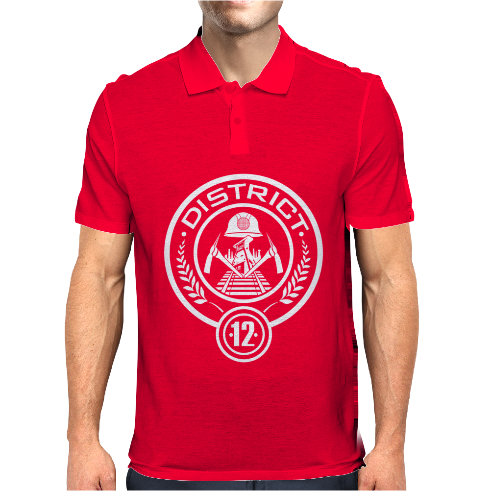 The Hunger Games District 12 Mens Polo