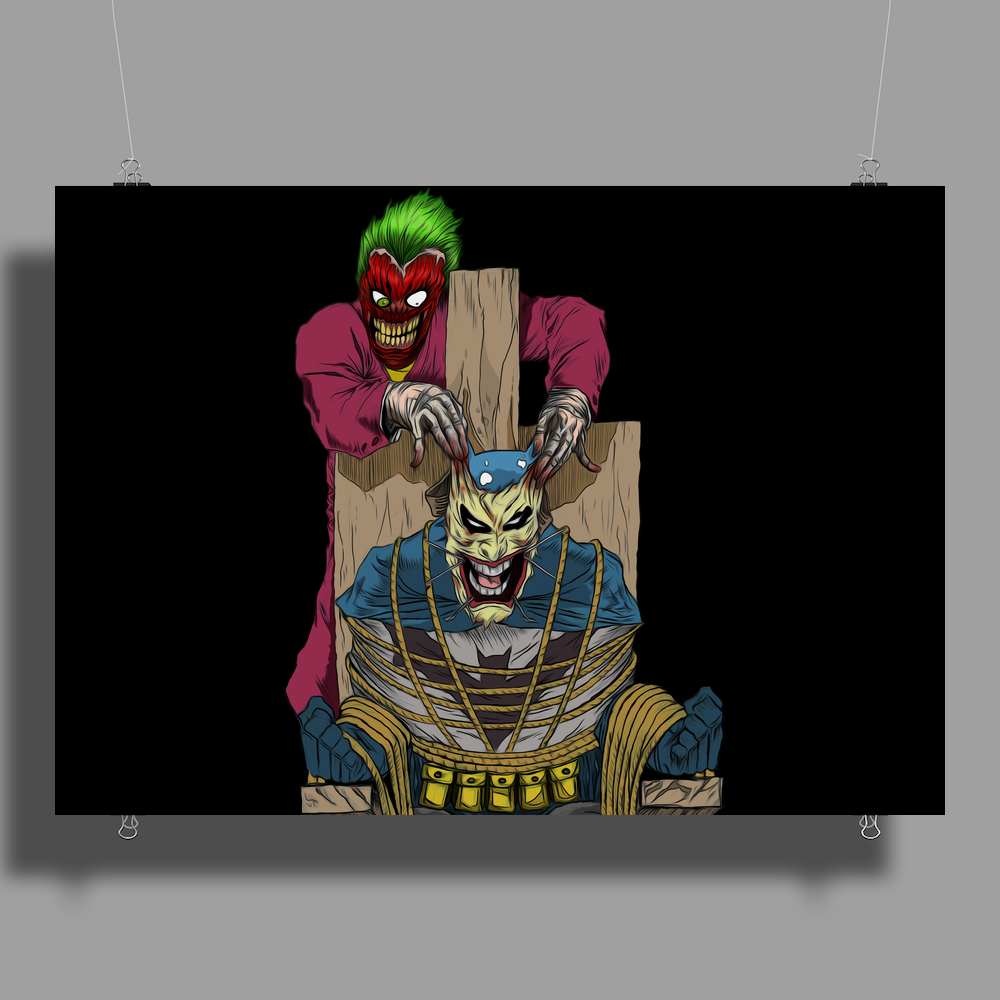 The Joker vs Batman Poster Print (Landscape)