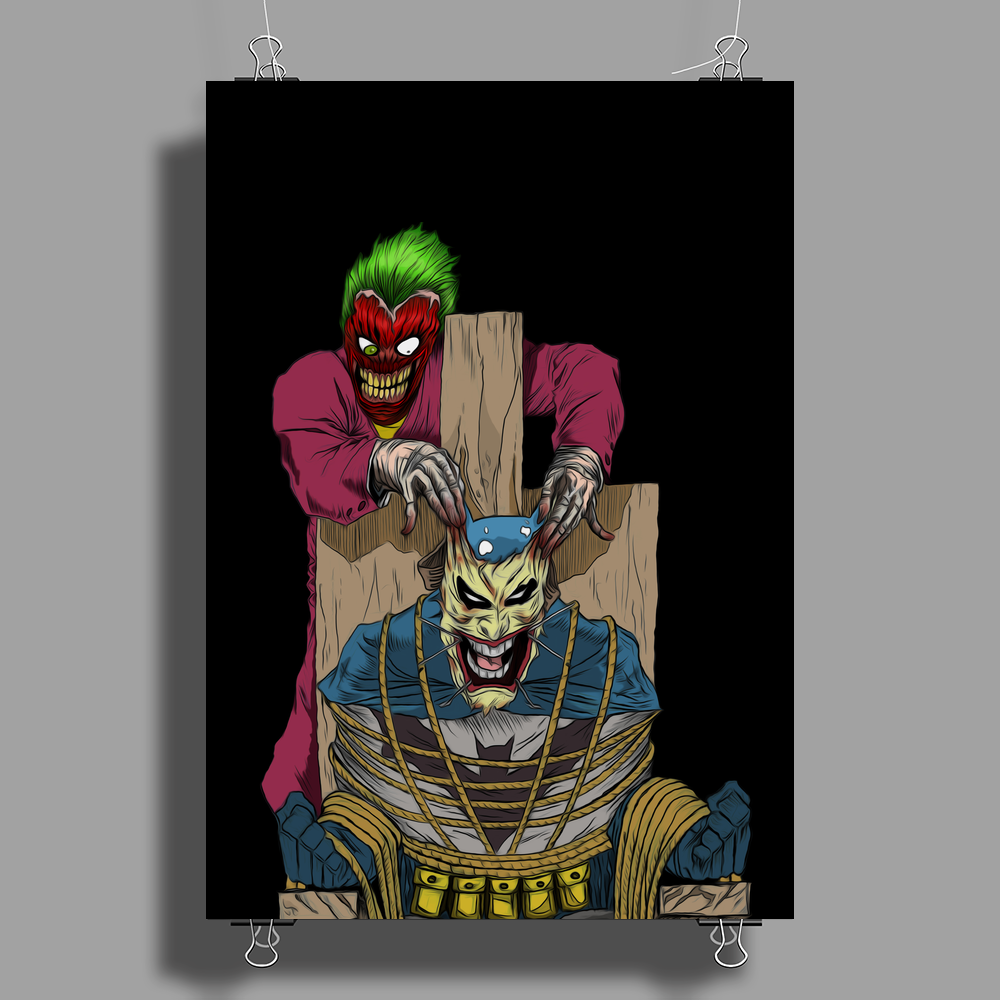 The Joker vs Batman Poster Print (Portrait)