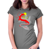 The little girl and the dragon Womens Fitted T-Shirt