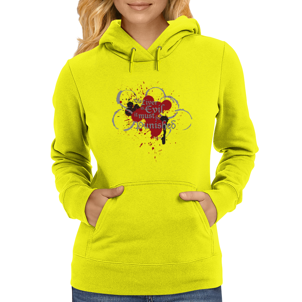 The Liver is Evil it Must be Punished - on white v2 Womens Hoodie