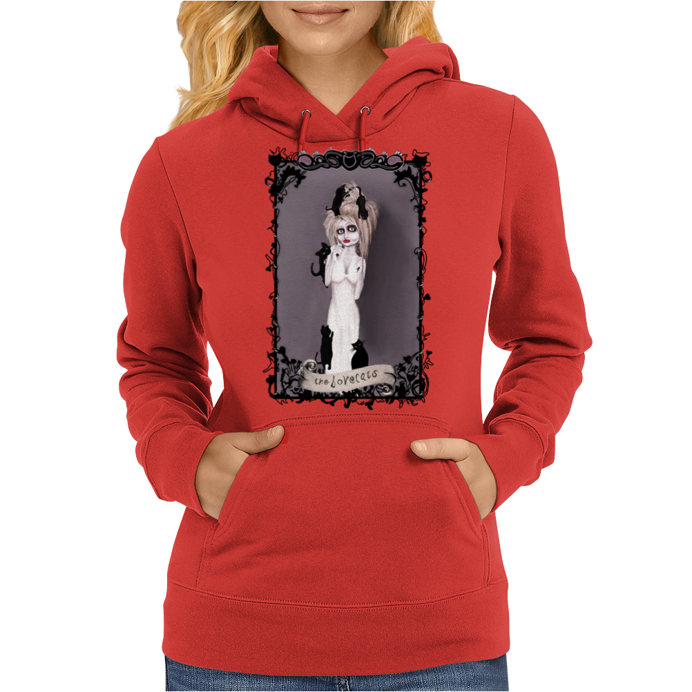 the Lovecats by Rouble Rust Womens Hoodie
