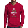 The man behind the belly Mens Hoodie