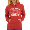 The Man Behind The Bump. Womens Hoodie