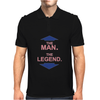 THE MAN - THE LEGEND FUNNY Mens Polo