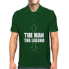 The Man The Legend Funny Mens Polo