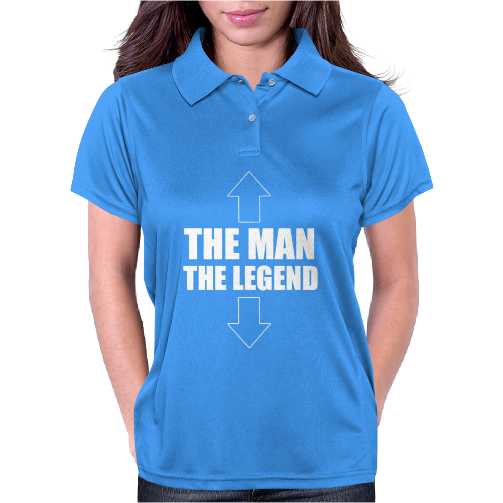 The Man The Legend Funny Womens Polo
