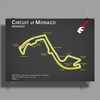The Monaco Grand Prix Circuit Poster Print (Landscape)
