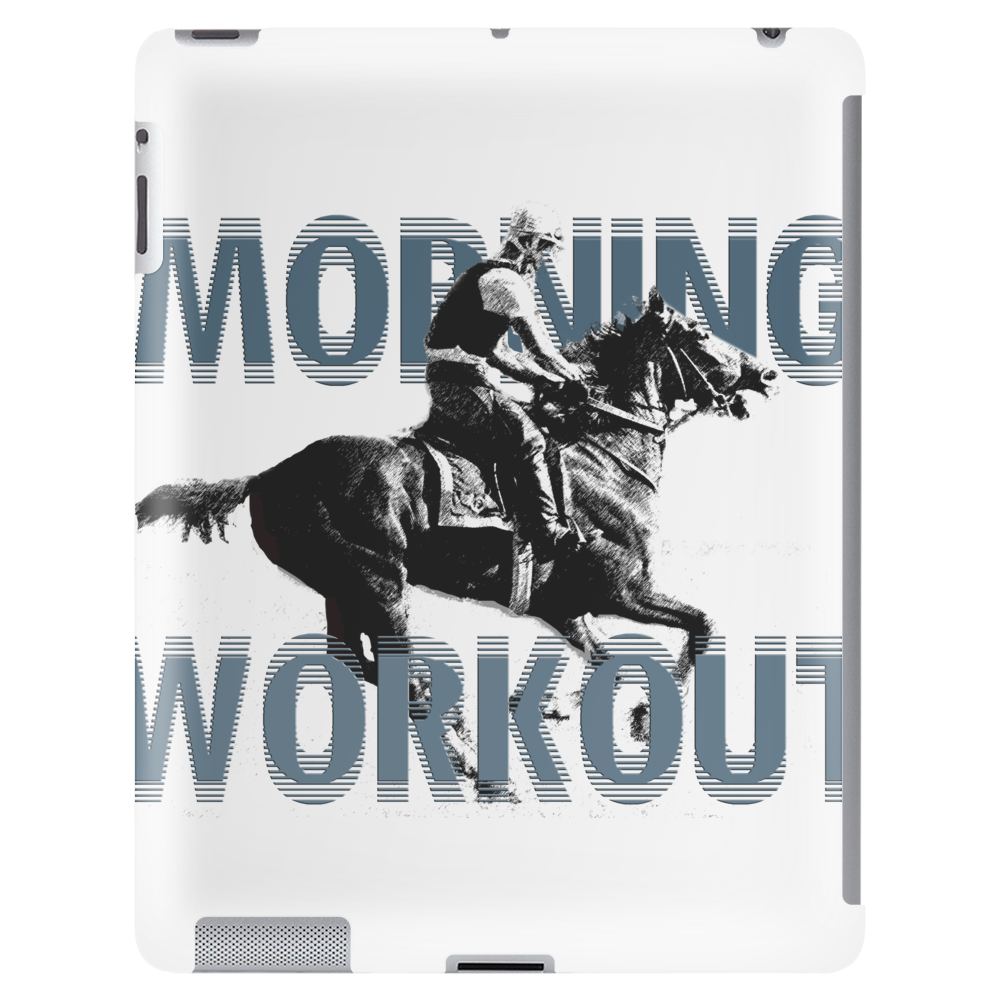 The Morning Workout - Thoroughbred Horse Racing Tablet (vertical)