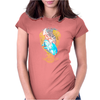 The Ocean Squid Battle Womens Fitted T-Shirt