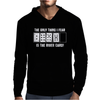 The Only Thing I Fear Is The River Card Poker Mens Hoodie
