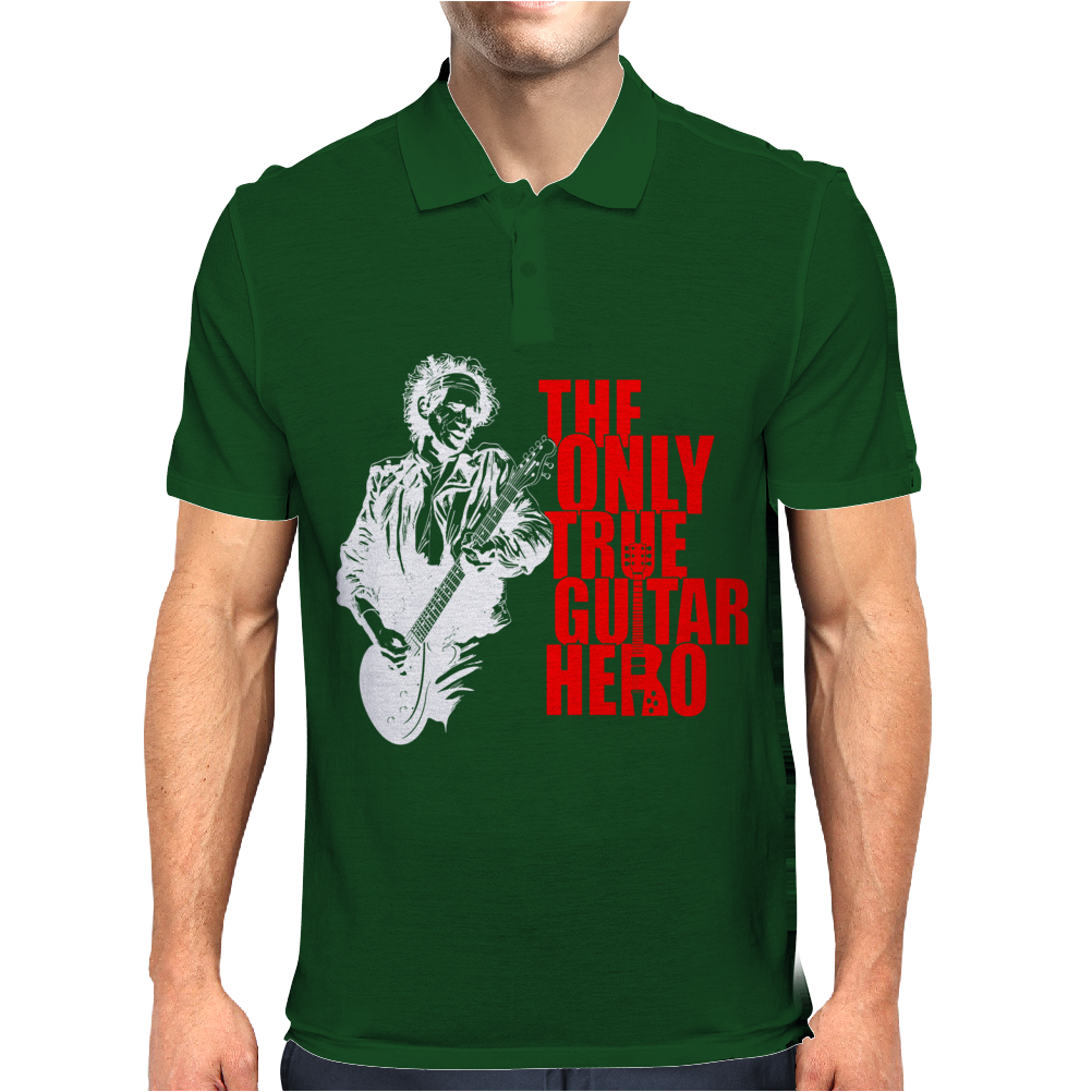 The only true guitar hero Mens Polo