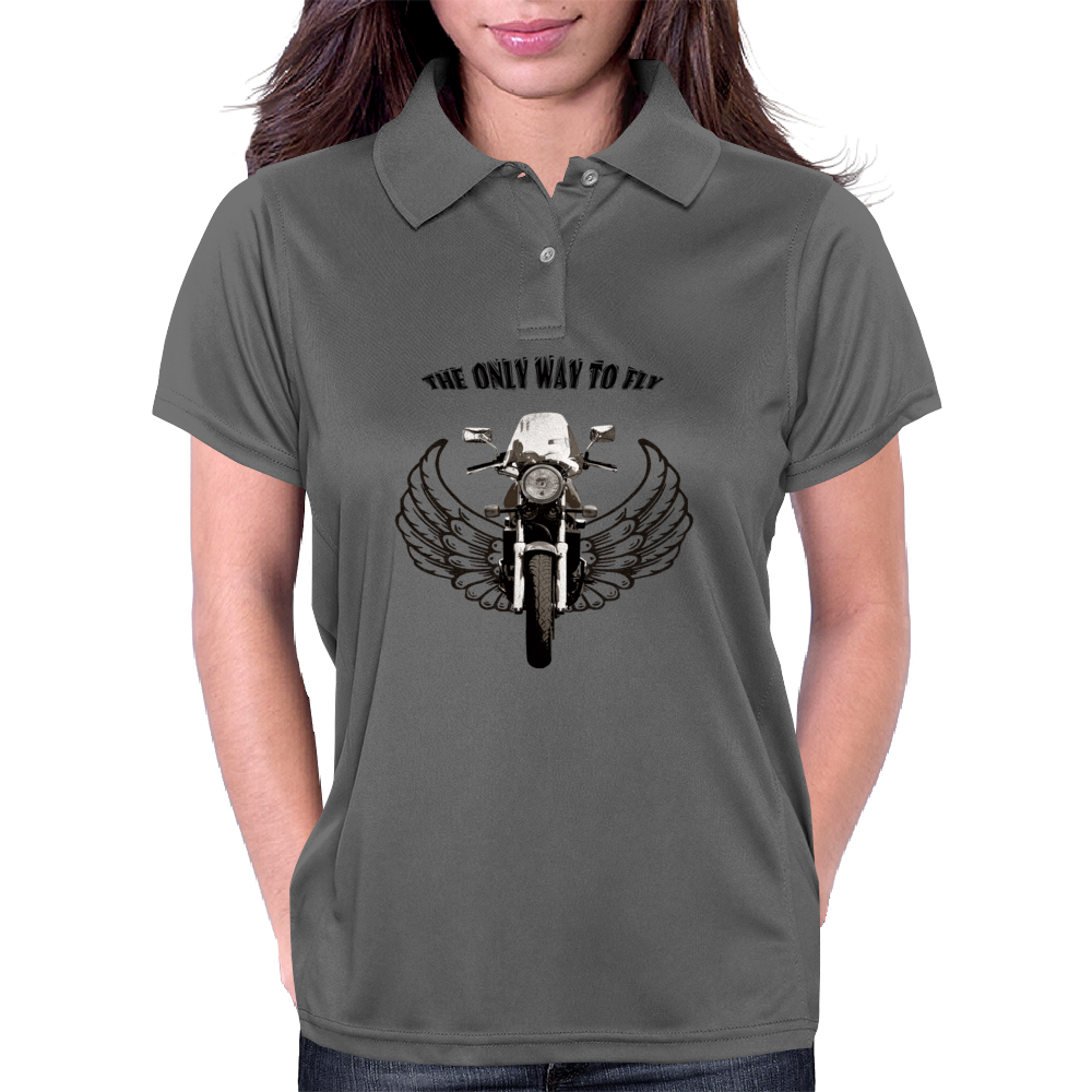 THE ONLY WAY TO FLY Womens Polo