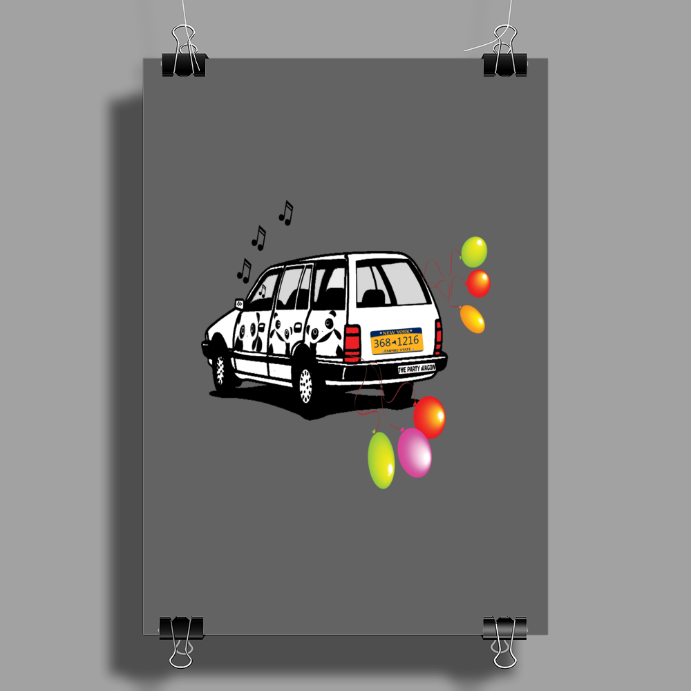 The Party Wagon Poster Print (Portrait)