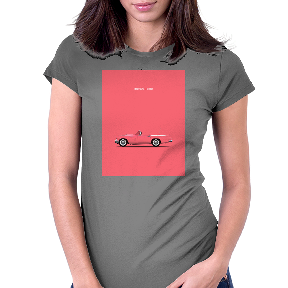 The Pink Thunderbird Womens Fitted T-Shirt