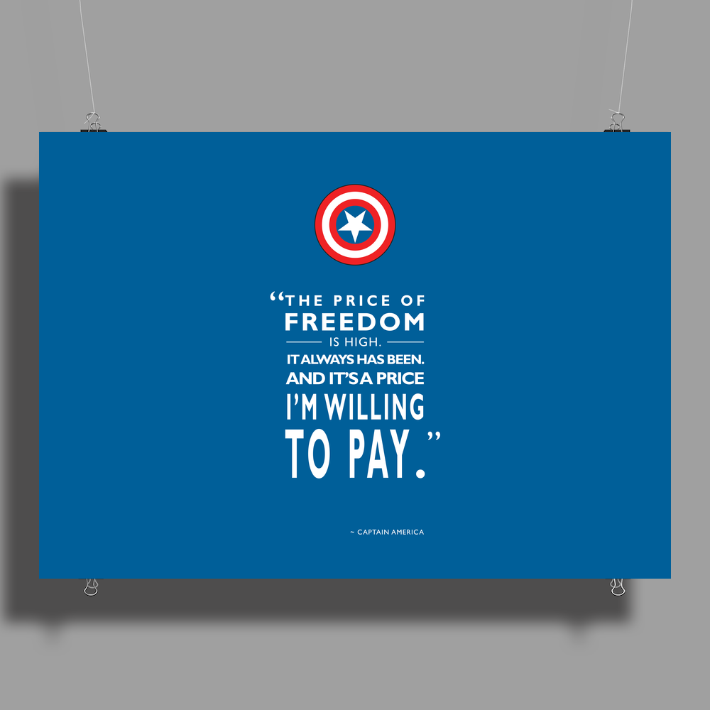 The Price of Freedom Poster Print (Landscape)