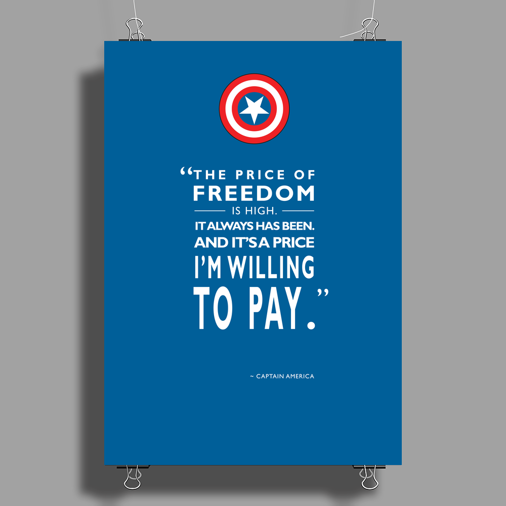 The Price of Freedom Poster Print (Portrait)