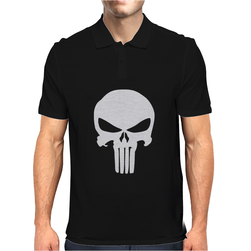 The Punisher Skull Head Mens Polo