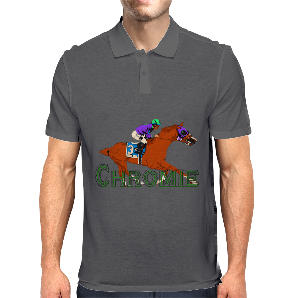 tHE rACEHORSE IN tYPOGRAPHY Mens Polo