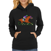 tHE rACEHORSE IN tYPOGRAPHY Womens Hoodie