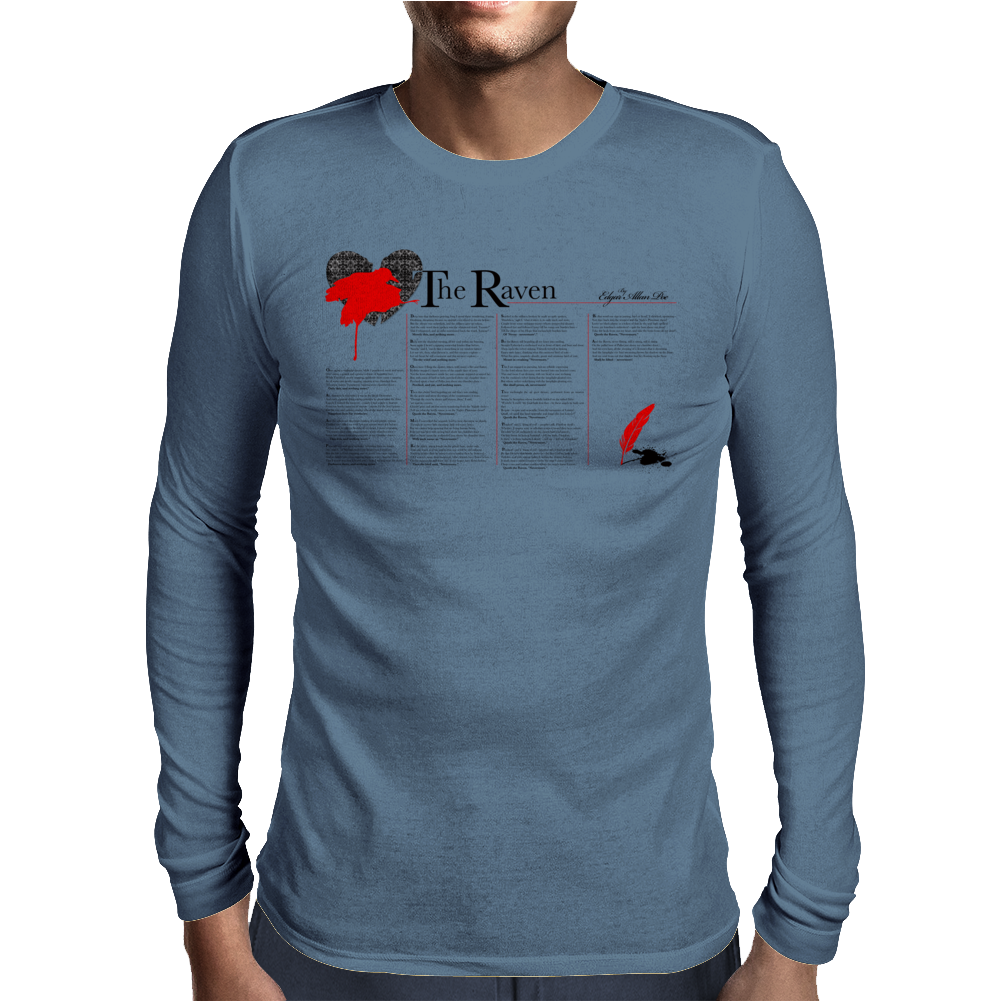 The Raven Poem by Edgar Allan Poe Mens Long Sleeve T-Shirt