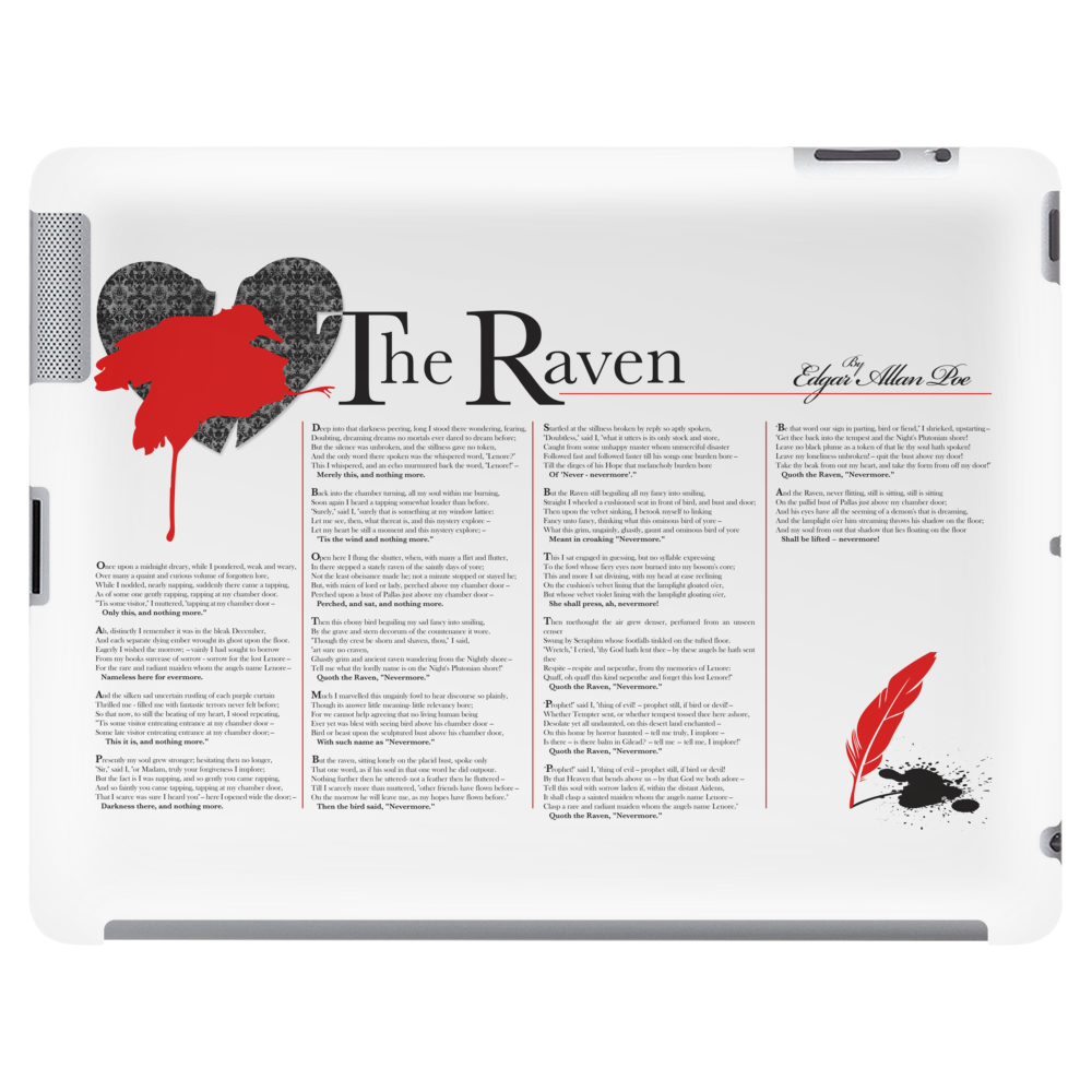 The Raven Poem by Edgar Allan Poe Tablet