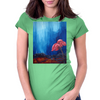 The Red Flower Womens Fitted T-Shirt