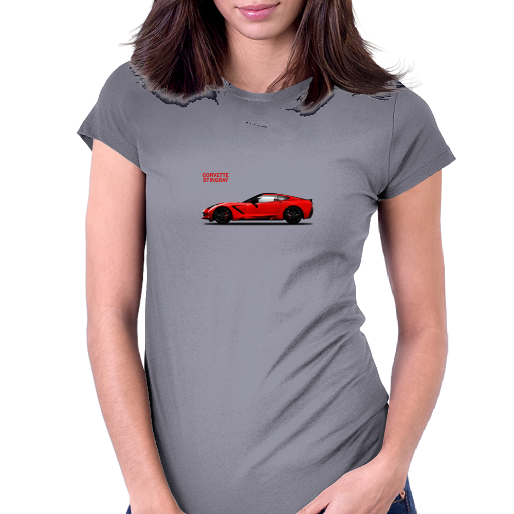 The Red Vette Womens Fitted T-Shirt
