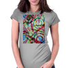 The Repose  of the Circle Fish Womens Fitted T-Shirt