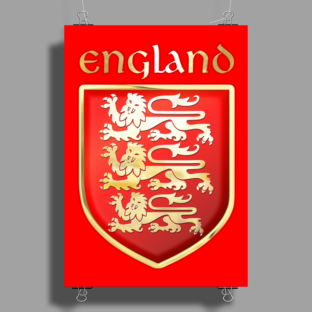 The Royal Arms of England Poster Print (Portrait)