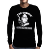 The Saurus thesaurus Knows All The Words Mens Long Sleeve T-Shirt