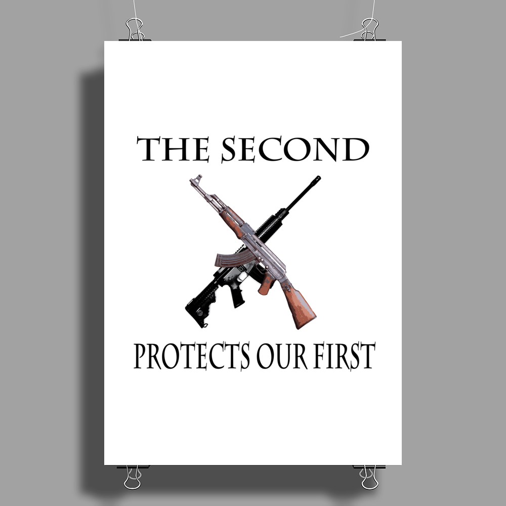 The Second Protects our First. Poster Print (Portrait)
