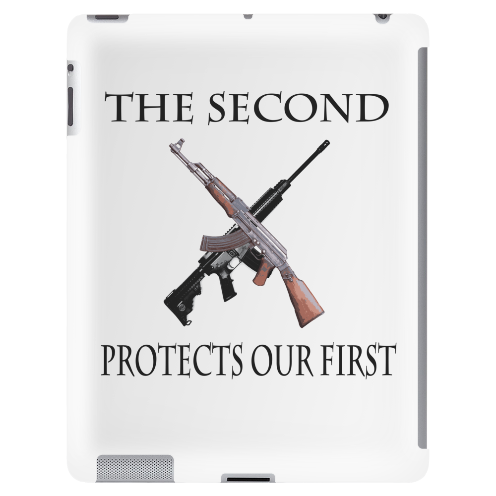 The Second protects our First. Tablet (vertical)