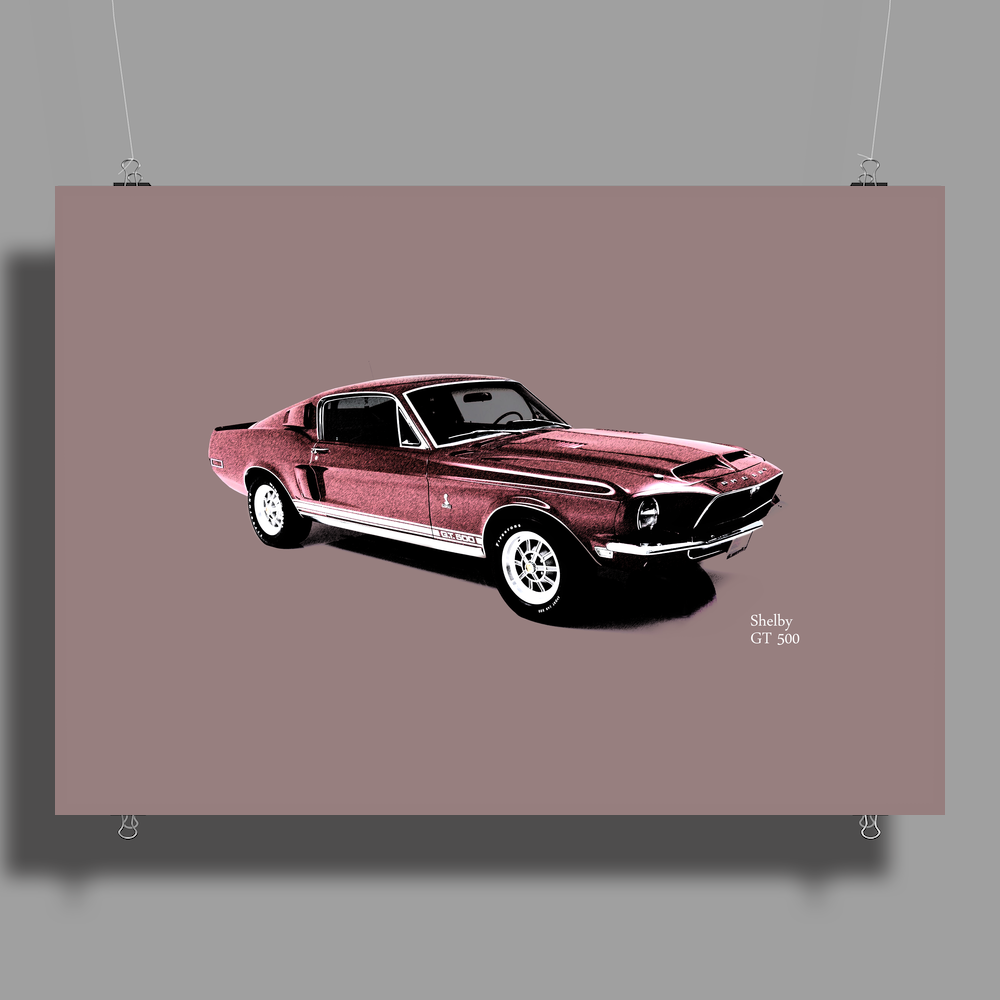 The Shelby GT 500 Poster Print (Landscape)