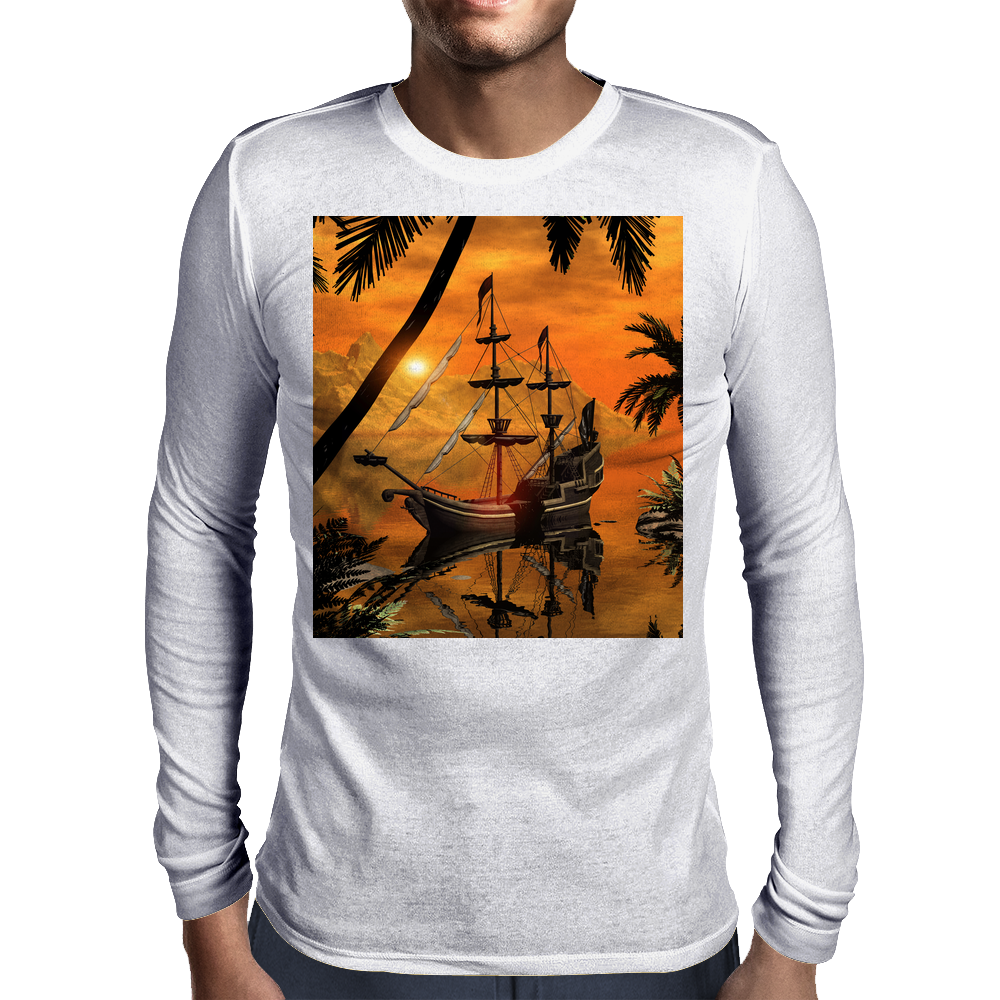 The ship Mens Long Sleeve T-Shirt