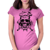 The skull chef Womens Fitted T-Shirt