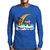 The stupid unicorn loses his head Mens Long Sleeve T-Shirt