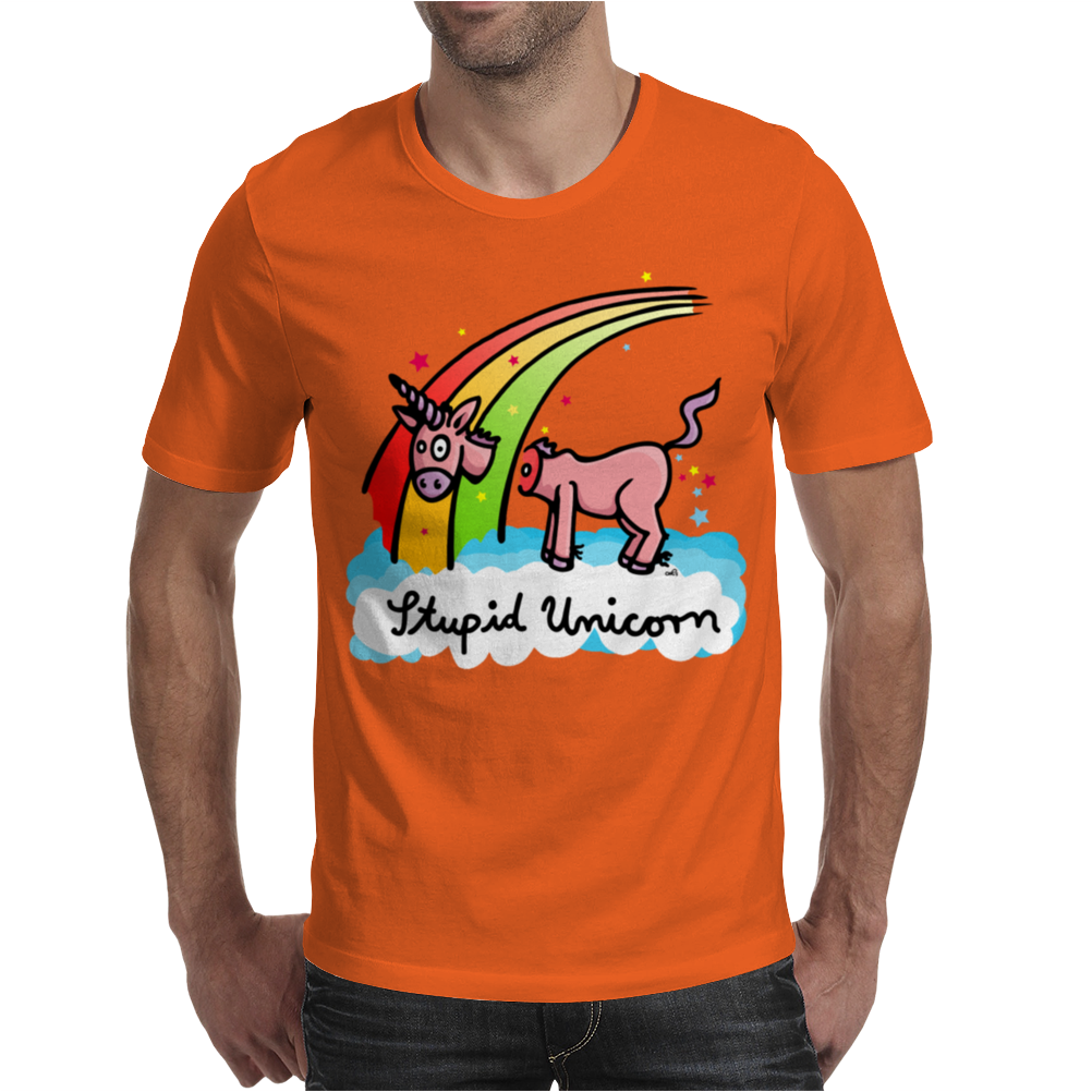 The stupid unicorn loses his head Mens T-Shirt
