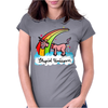 The stupid unicorn loses his head Womens Fitted T-Shirt