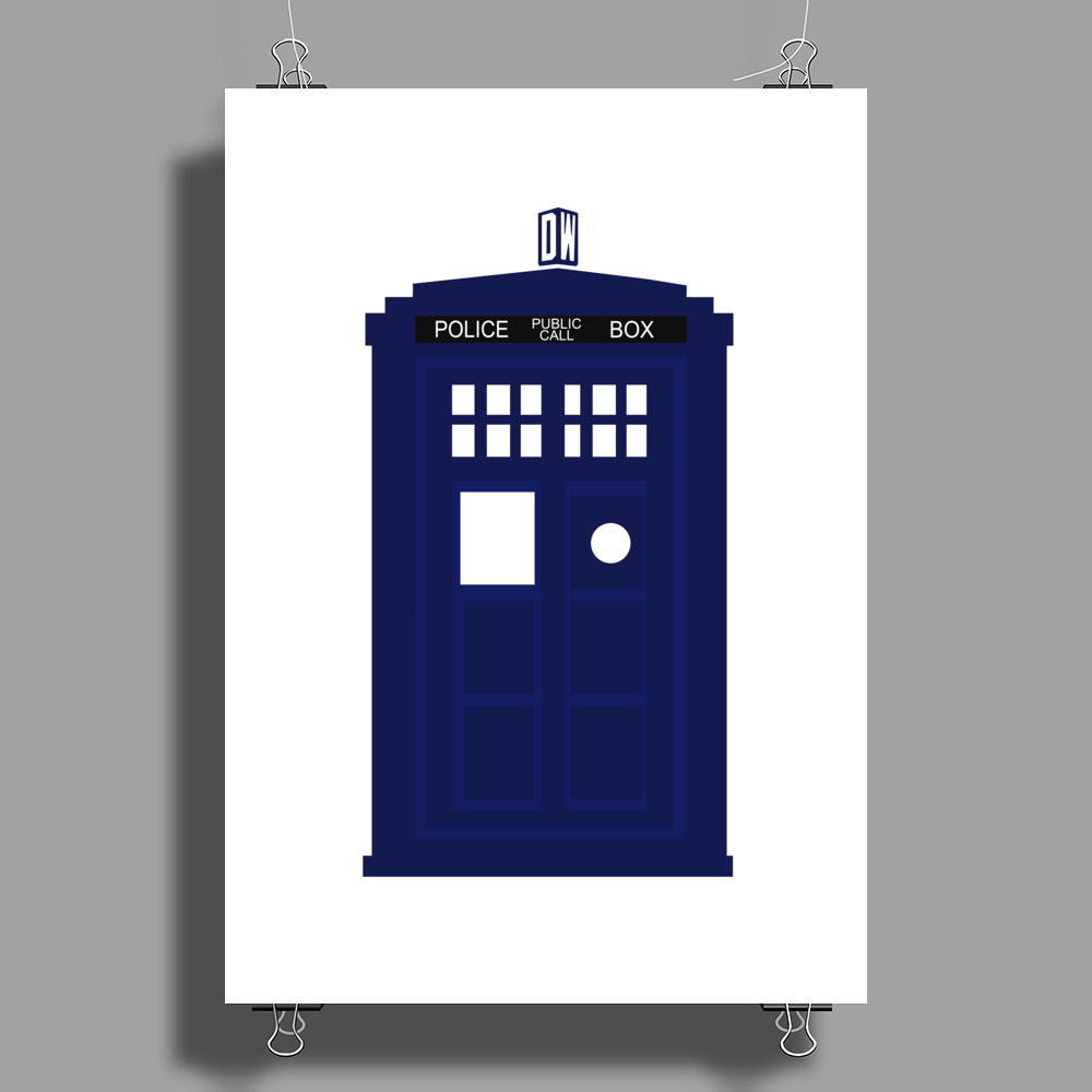 THE TARDIS Poster Print (Portrait)