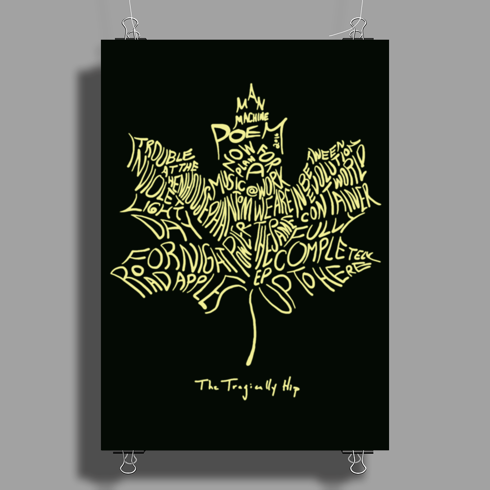 The Tragically Hip Poster Print (Portrait)