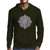 The Tudor Rose Pink Diamond Mens Hoodie
