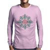 The Tudor Rose Pink Diamond Mens Long Sleeve T-Shirt