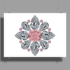 The Tudor Rose Pink Diamond Poster Print (Landscape)